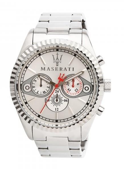 Hodinky Maserati ocelově bílá (Kvalitní pánské hodinky)