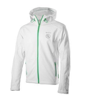 Bunda Škoda bílá (Pánská hřejivá softshellová bunda)