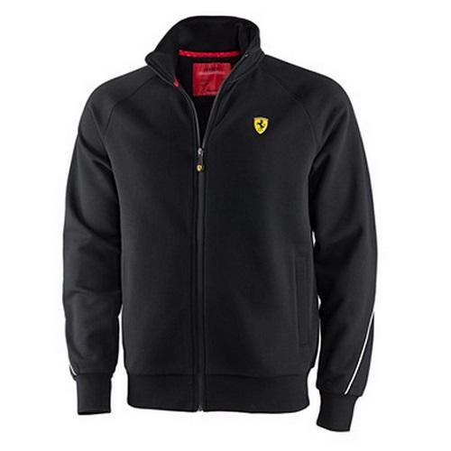 Ferrari černá mikina (Luxusní bunda v černé barvě značky Ferrari)