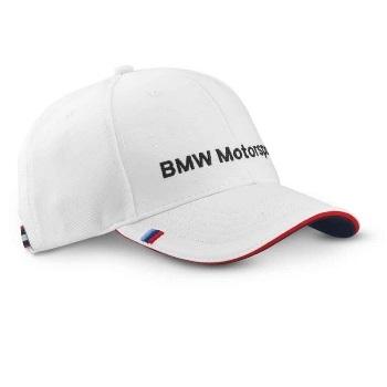 BMW Motorsport bílá čepice (Bílá kšiltovka s kšiltem BMW Motorsport)