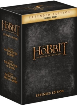 Hobit Speciální kolekce DVD (The Hobit Extended Edition 1-3 (15 DVD))