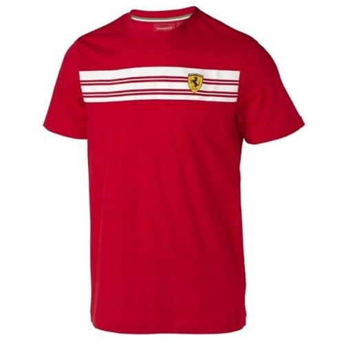 Tričko Ferrari červené (Červené triko s krátkým rukávem značky Ferrari)