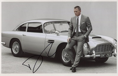 James Bond originální fotografie s podpisem (Daniel Craig fotografie agenta 007)