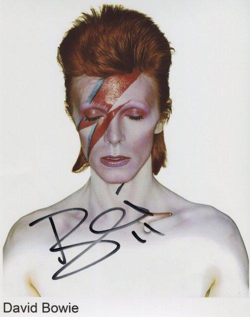 David Bowie fotografie s podpisem (Jedinečná fotografie David Bowie)