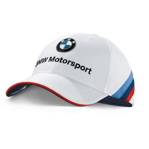 BMW Motorsport bílá kšiltovka (Baseballová čepice s kšiltem BMW v bílé barvě)