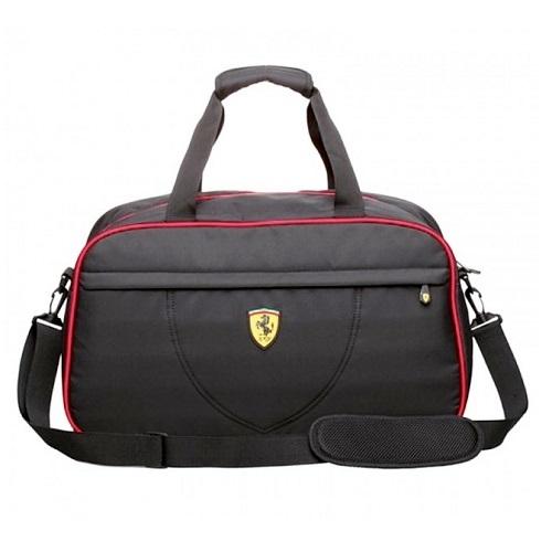 Ferrari luxusní taška v černé barvě (Sportovní černá brašna značky Ferrari)