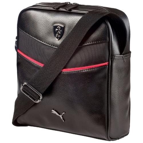 Ferrari luxusní brašnička přes rameno Puma (Puma taška přes rameno v černé barvě Ferrari)
