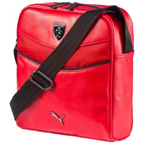 Ferrari luxusní červená brašnička přes rameno Puma (Puma taška přes rameno v červené barvě Ferrari)