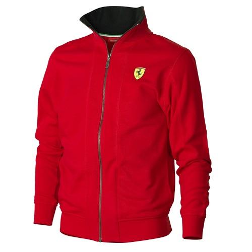 Ferrari červená mikina (Luxusní bunda v červené barvě značky Ferrari)