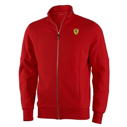 Ferrari mikina v červené barvě (Luxusní bunda v červené barvě značky Ferrari)