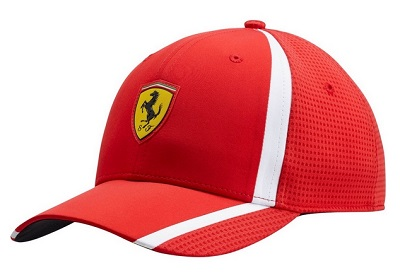 Ferrari čepice červená (Originální čepice Ferrari s kšiltem)