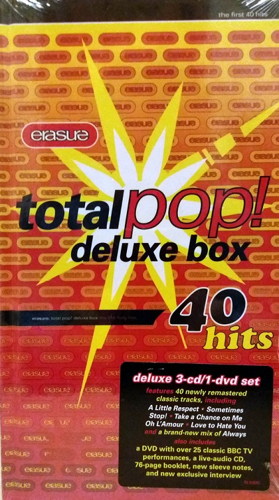 Erasure TOTAL POP! DVD Deluxe Edition (DVD Erasure)
