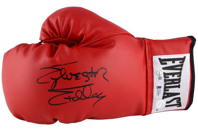 Originální Rocky rukavice s podpisem (Sylvester Stallone boxerské rukavice Rocky)