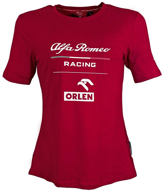 Alfa Romeo dámské tričko (Dámské červené triko s krátkým rukávem Alfa Romeo)