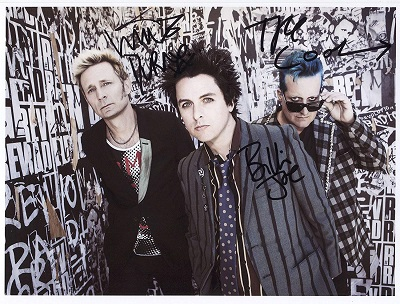 Green Day fotografie s podpisy